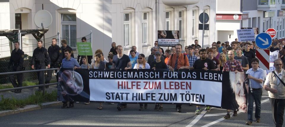 Lebensschützer demonstrieren gegen Abtreibung Foto: Friedrich Pohl